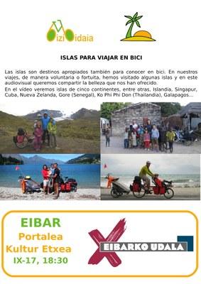Charla audiovisual: Islas para viajar en bici