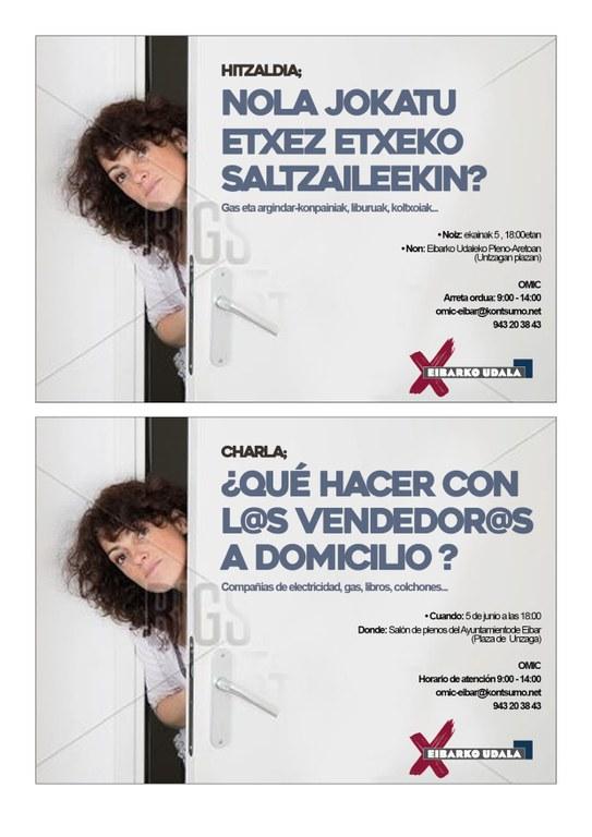 """La OMIC organiza una charla sobre """"¿Qué hacer con l@s vendedores/as a domicilio?"""""""
