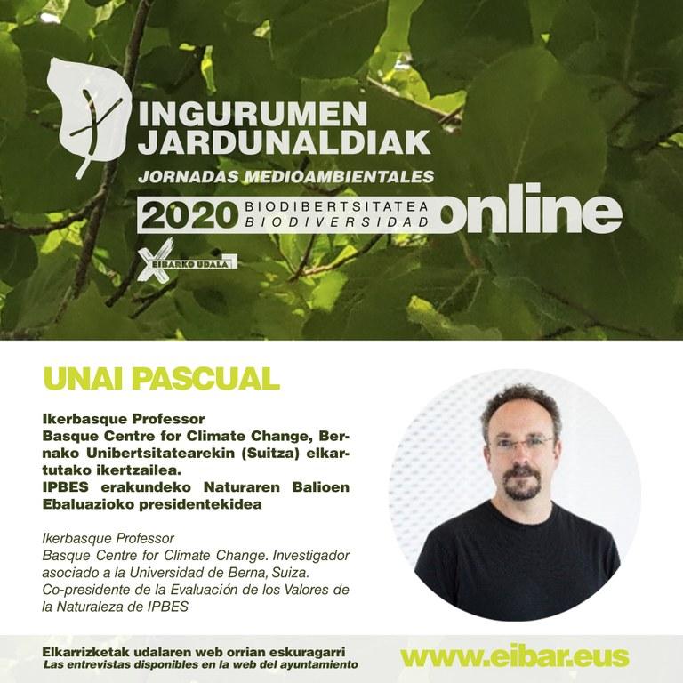 Unai Pascual, investigador de Ikerbasque.