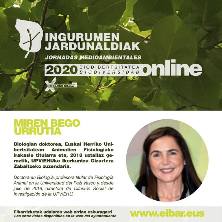 Miren Bego Urrutia, doctora en biología por la UPV-EHU.