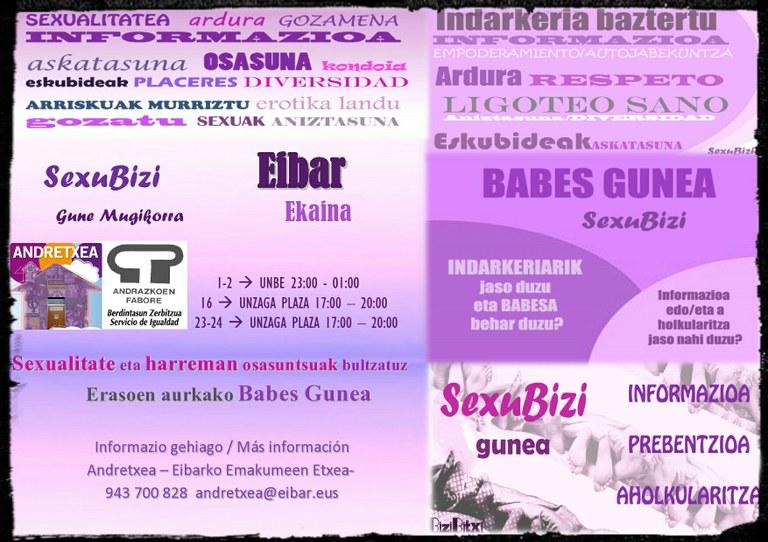 Programa preventivo en fiestas: SexuBizi, espacio de protección