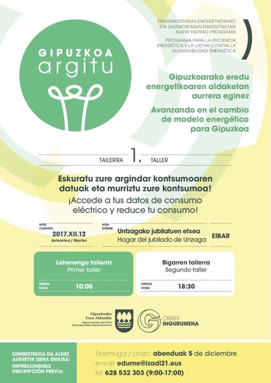 Sesiones prácticas dirigidas a obtener información adecuada y controlar eficazmente los consumos eléctricos en Eibar
