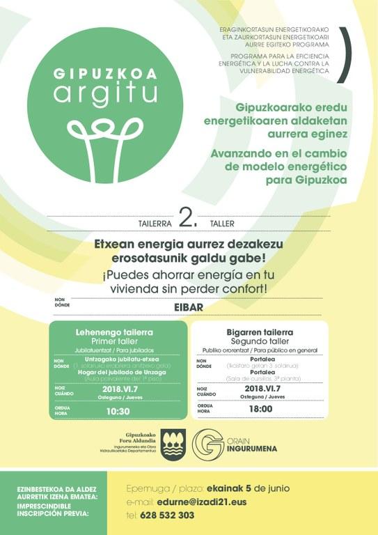 Talleres Argitu: Sesiones prácticas dirigidas a ahorrar energía y dinero sin perder confort en Eibar