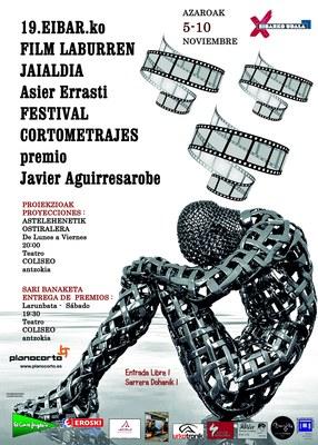 "19 Festival de cortometrajes de Eibar  ""Asier Errasti"""