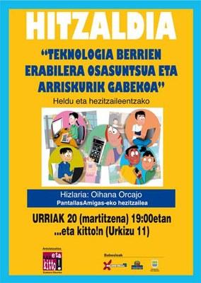 "La charla en euskera ""Gazteak eta sare sozialak"" será el 20 de octubre"