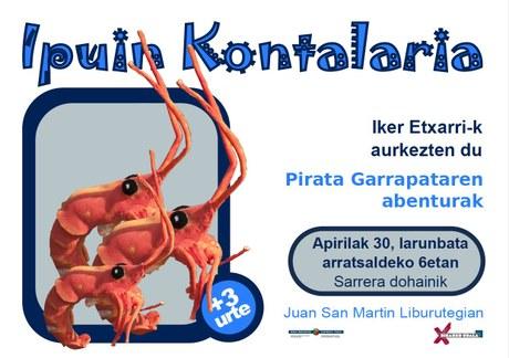 El cuento del Sábado - Pirata Garrapataren abenturak