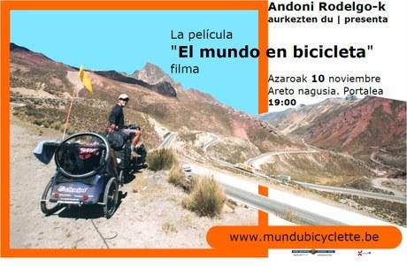 """Proyección de la película """"El mundo en bicicleta"""""""