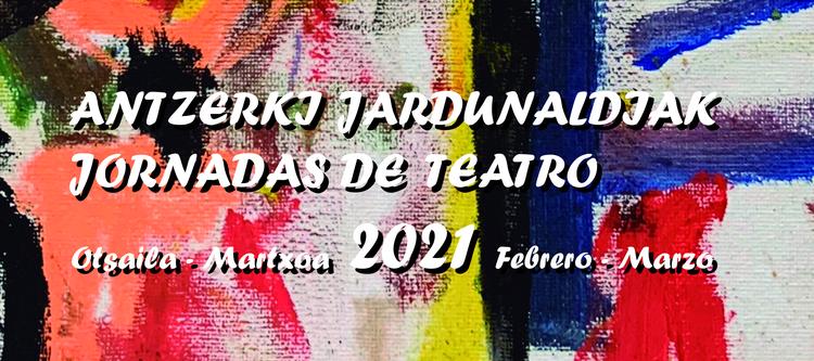 Cartel de la 44º edición de las Jornadas de Teatro de Eibar.