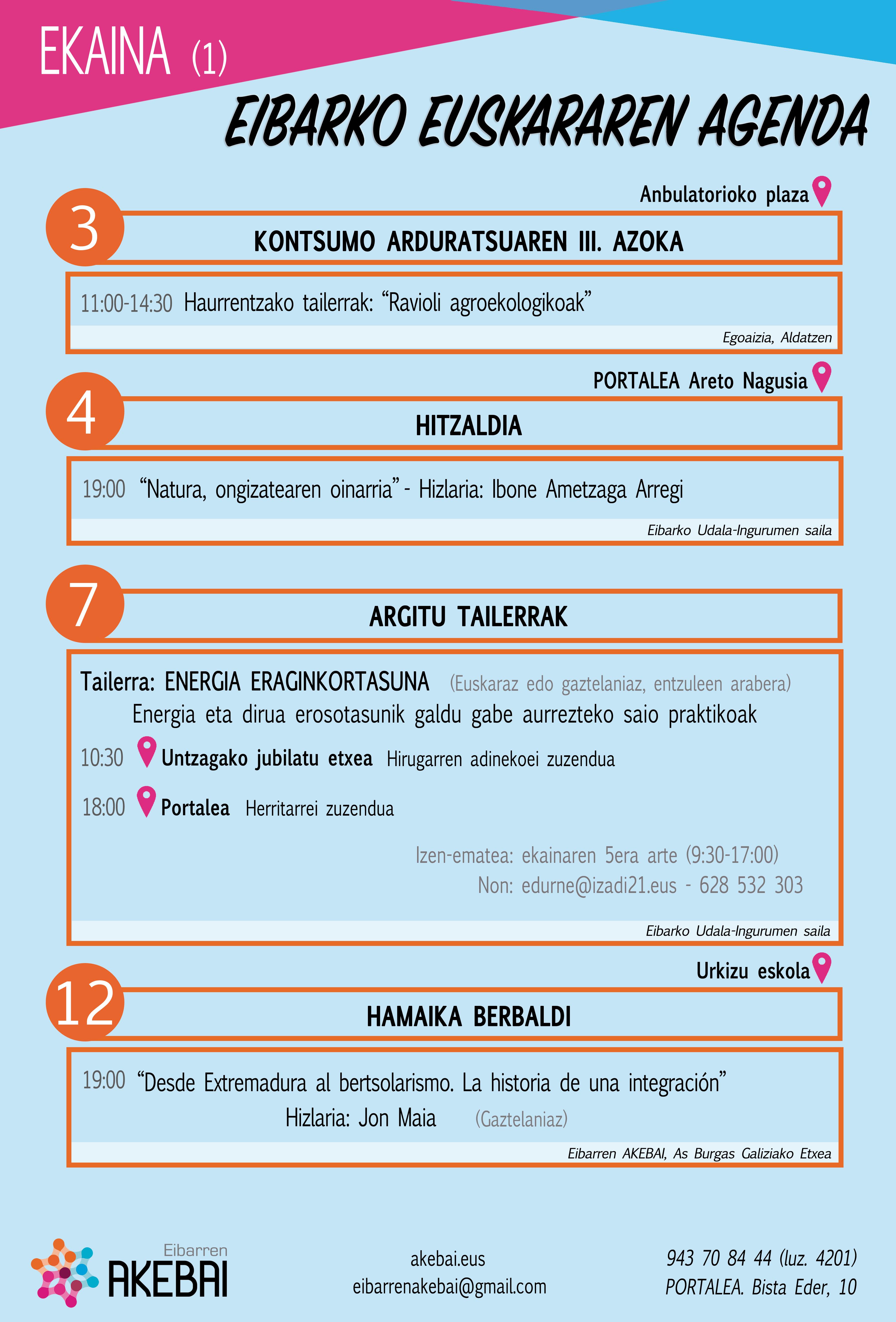 Agenda del euskera. Junio.
