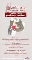 Bularretik Mintzora: ciclo de conferencias para madres y padres el 20 y el 27 de marzo en castellano