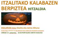 """Charla en euskera: """"Itzalitako kalabazen berpiztea"""""""