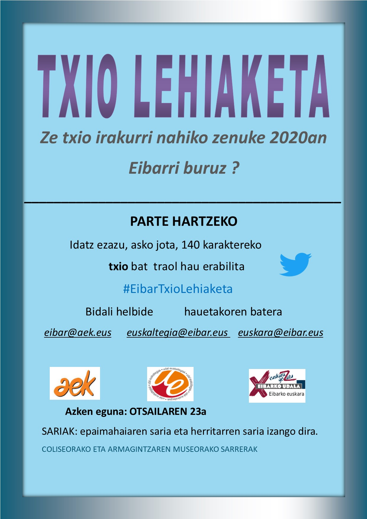 Concurso de tuits en euskera