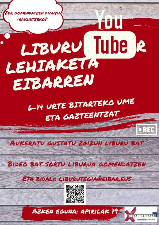 Cartel del concurso LiburuTuber