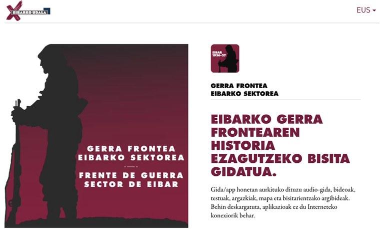 Disponible la nueva aplicación sobre el Frente de la Guerra Civil en Eibar
