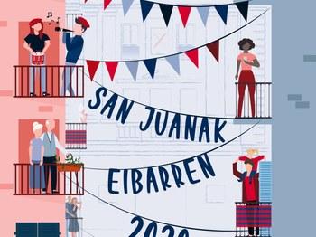 'Festak jarrai dezala', cartel ganador de Eneritz Larrea Arocena.