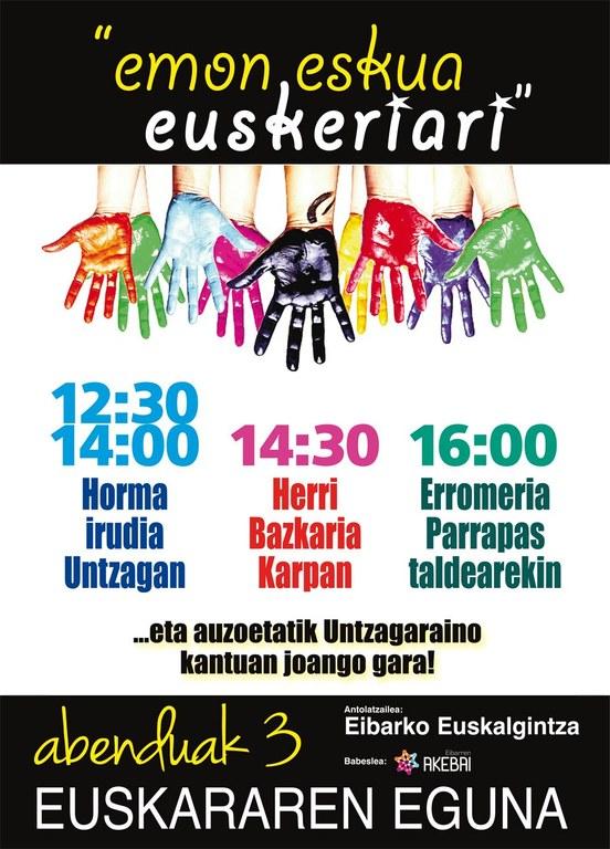 El Ayuntamiento de Eibar se sumará un año más a la conmemoración del Día Internacional del Euskera