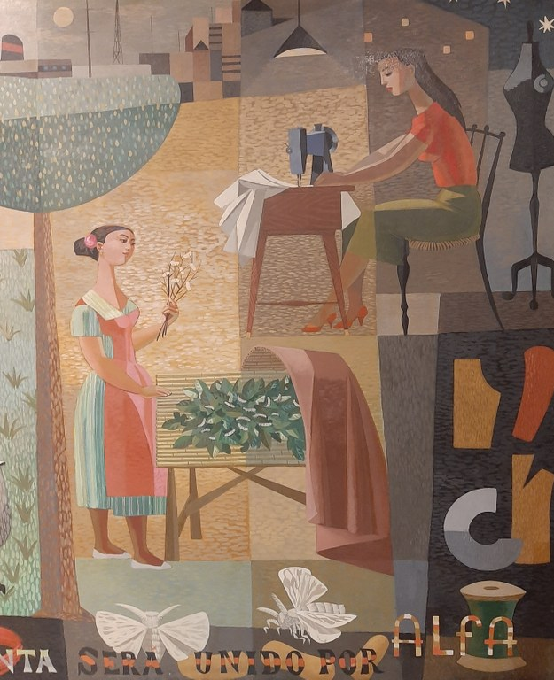 El mural de Alfa, recuperado por el Museo. Alfa cumple su centenario este año.