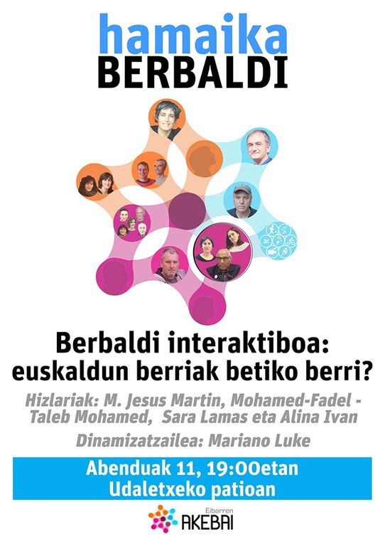 "El patio del Ayuntamiento acogerá mañana martes, 11 de diciembre, la charla titulada ""Berbaldi interaktiboa: euskaldun berriak betiko berri?"""