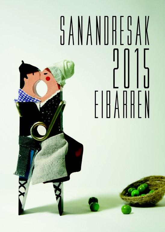 "Elegido el cartel anunciador  ""Sanandresak Eibarren""  2015"