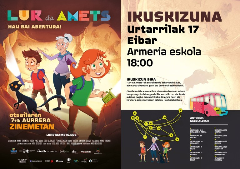 Espectáculo Lur eta Amets en Eibar