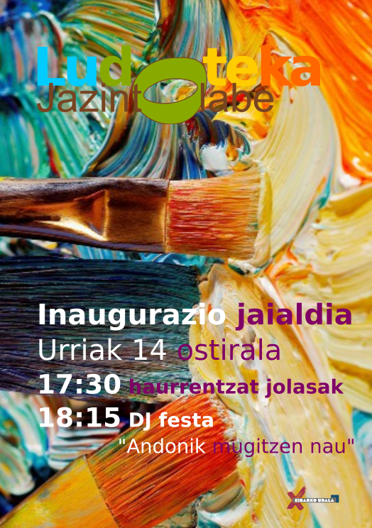 Fiesta de inauguración de la ludoteca Jazinto Olabe