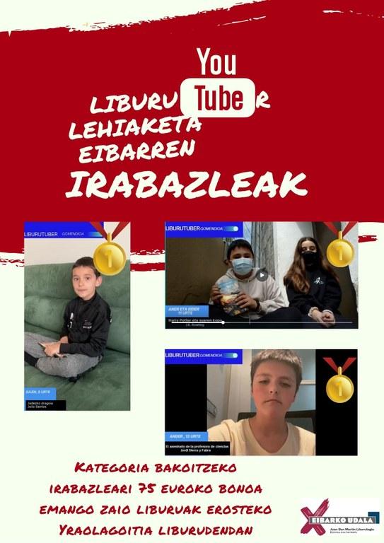Ganadores/as en el I Concurso LiburuTuber