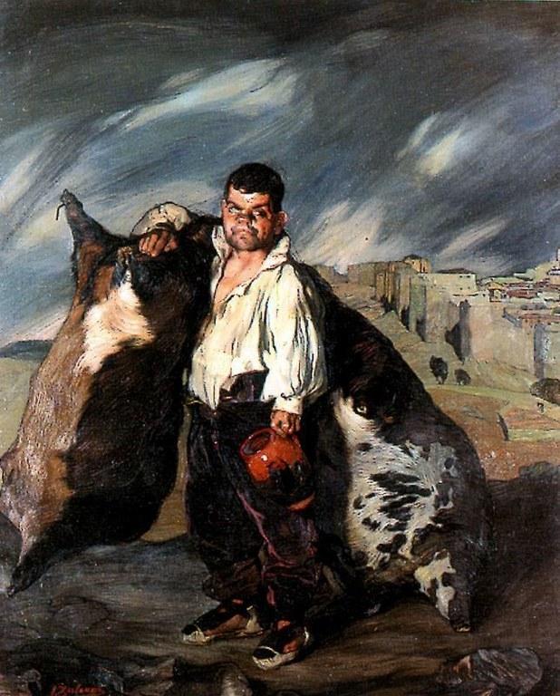 Gregorio el botero. Pintura de Zuloaga que se mostró en la Exposición de 1908. Foto: familia Zuloaga.