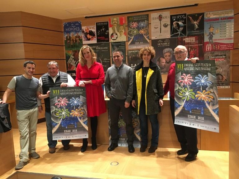 La 41º edición de las Jornadas de Teatro de Eibar se desarrollará del 16 de febrero al 23 de marzo
