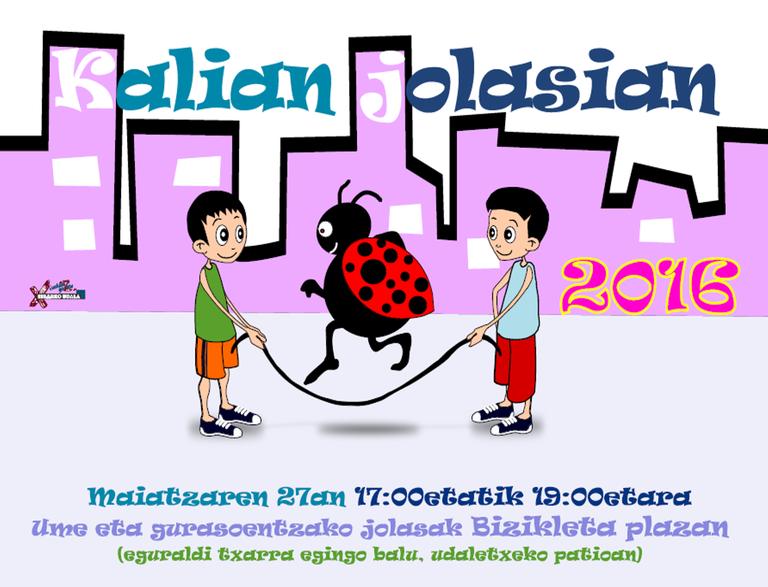 """La plaza Eibarko Bizikleta acogerá la actividad """"Kalian jolasian"""" el próximo 27 de mayo"""