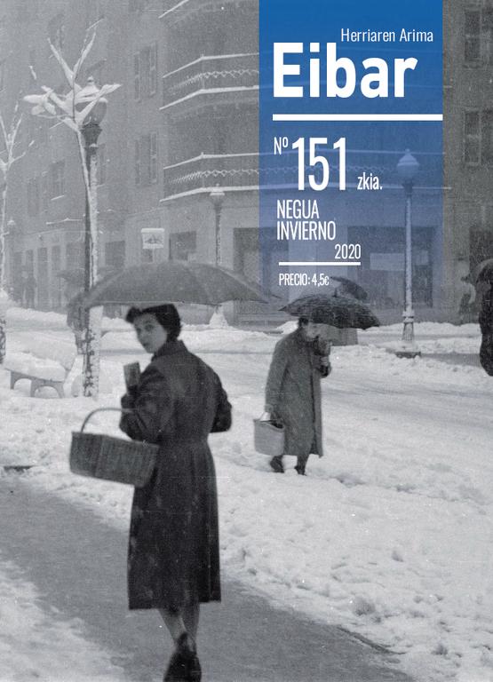 1956. La calle Errebal en un día nevado. Foto: Archivo Municipal de Eibar
