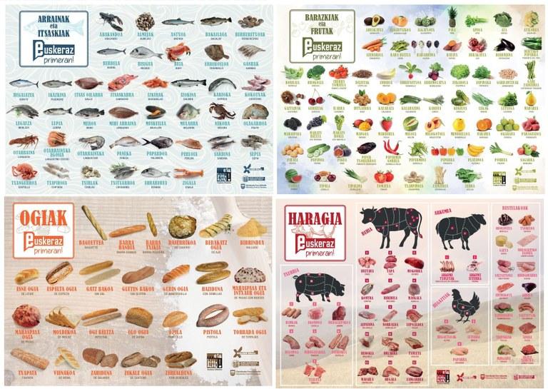 Posters de los alimentos