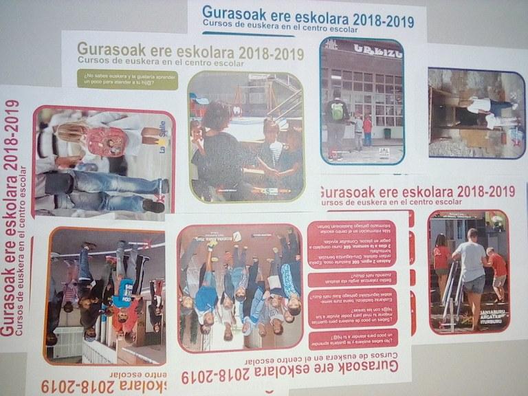 Nuevamente este curso Gurasoa ere eskolara, clases de euskera para padres y madres