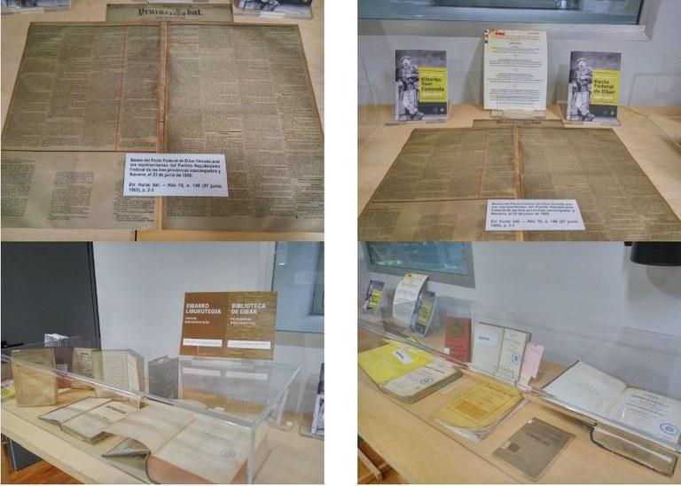Pacto Federal de Eibar: centro de interés en la Biblioteca Municipal