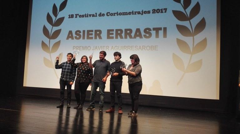 "Premios del  18 Festival de cortometrajes de Eibar ""Asier Errasti"""