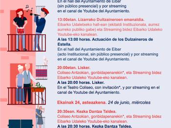 Programa de las fiestas de San Juan 2020.