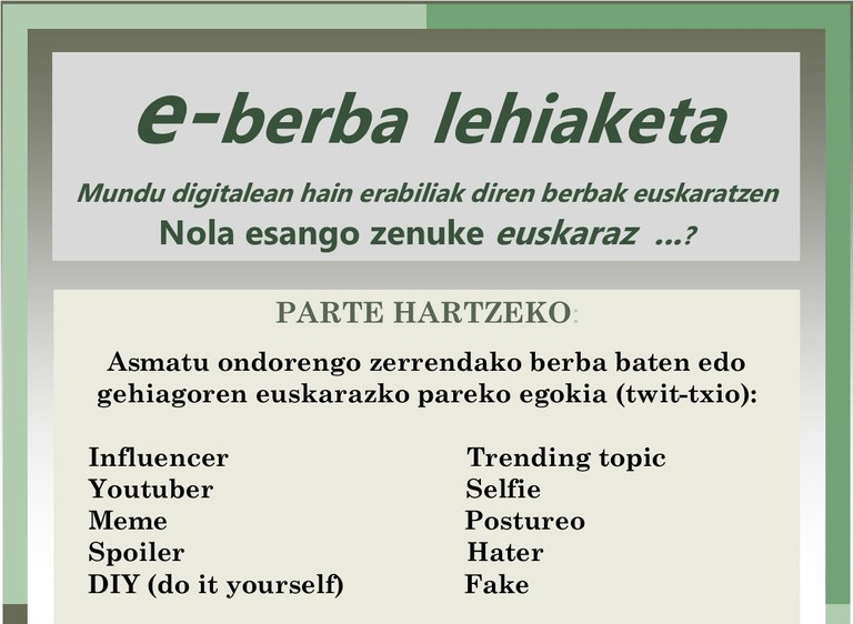 Ya se puede votar en el concurso e-berba (palabras digitales)