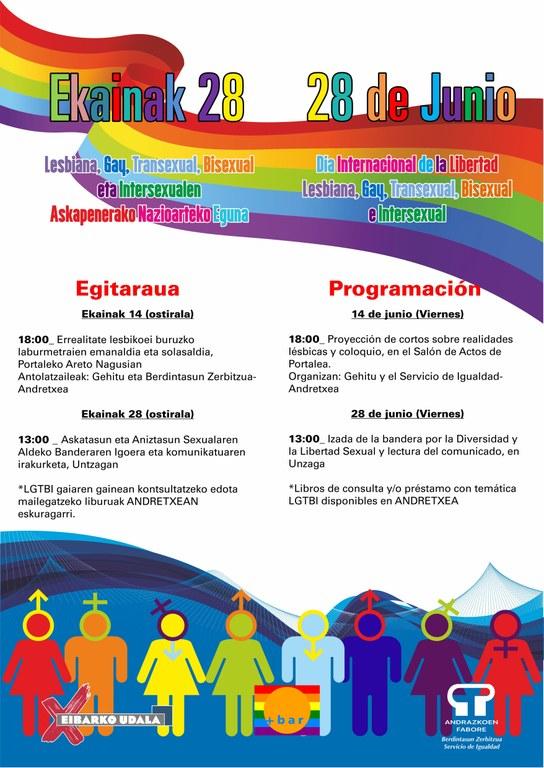 Está disponible la programación de la campaña del Orgullo LGTBI