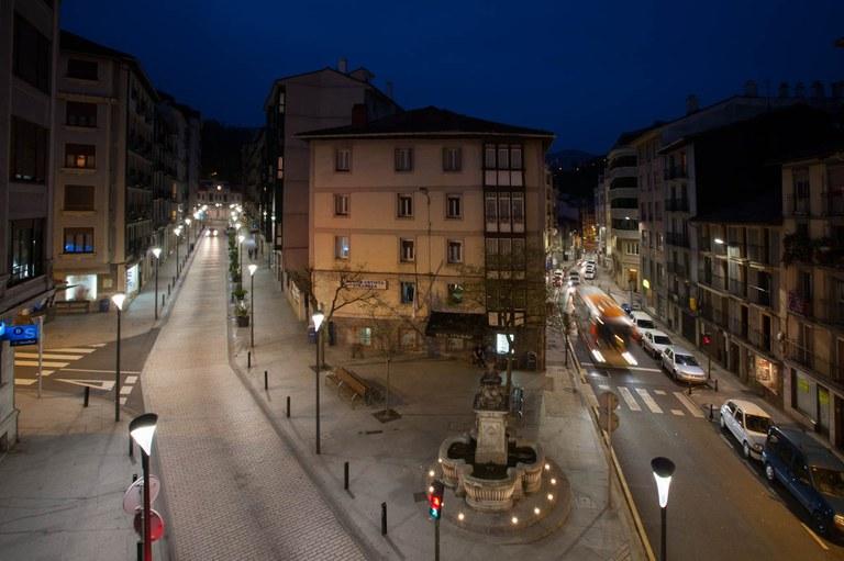 15 zonas de Eibar cuentan desde hace unos días con un total de 187 nuevas luminarias LED