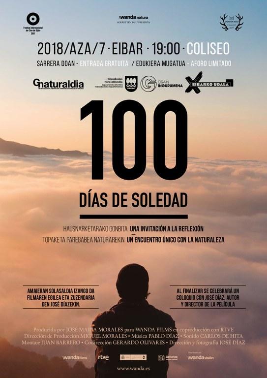 """Eibar volverá a ser sede de Gipuzkoa Naturaldia con la proyección de la película """"100 días de soledad"""""""
