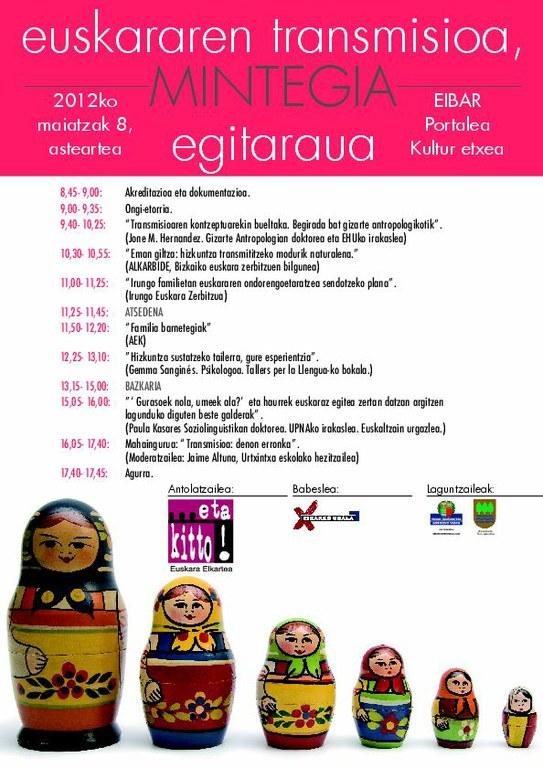Abierto el plazo de inscripcion para el II. seminario sobre la transmisión del euskera