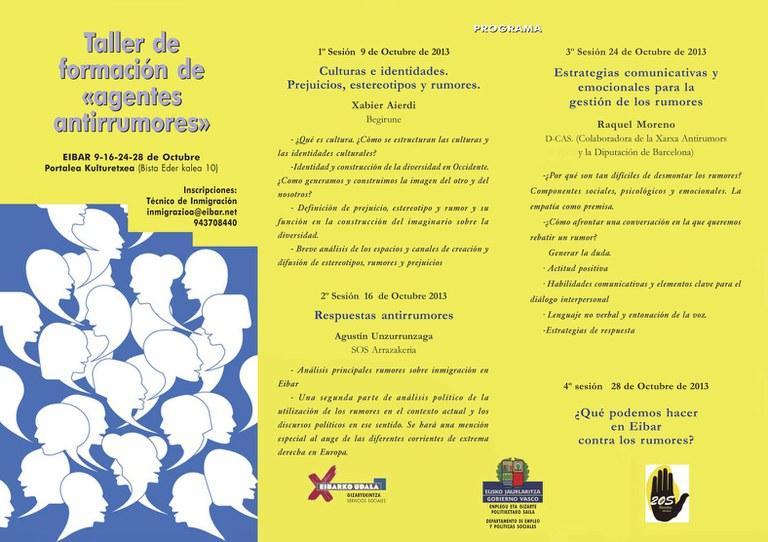 """""""Desmontando prejuicios y estereotipos: Taller de agentes antirumor"""" en octubre en Portalea"""