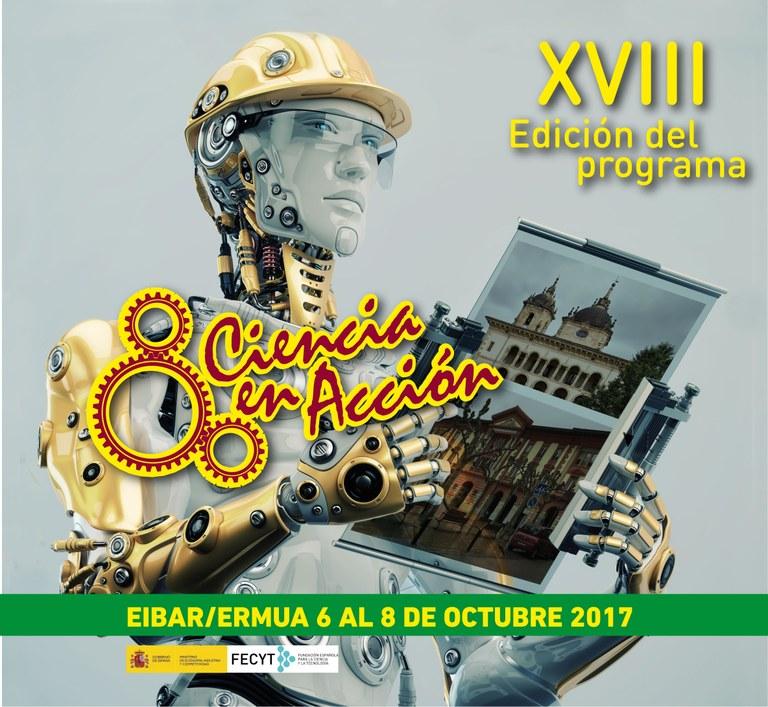 Eibar acogerá este fin de semana el acto de clausura de la XVIII edición de 'Ciencia en Acción'