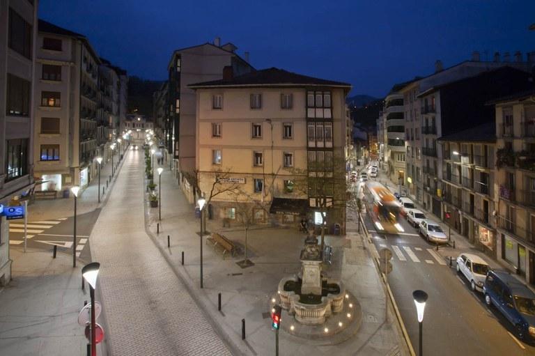 Eibar logró en 2016 un ahorro del 11,5 % en la factura del alumbrado público de sus calles con respecto a los datos de 2015