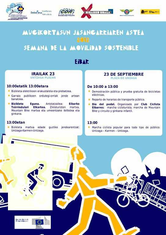 Eibar se suma a la Semana Europea de la Movilidad Sostenible