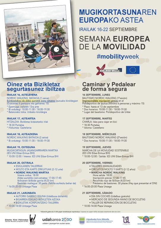 Eibar se suma un año más a la Semana Europea de la Movilidad