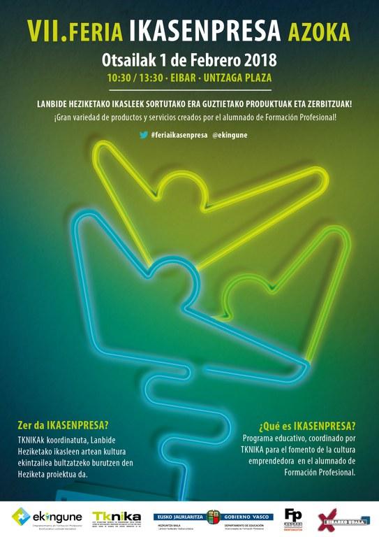Eibar vuelve a convertirse este jueves en la capital del emprendimiento con la celebración de la VII edición de Ikasenpresa