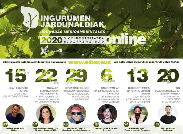 Cartel informativo de las Jornadas Medioambientales de 2020.