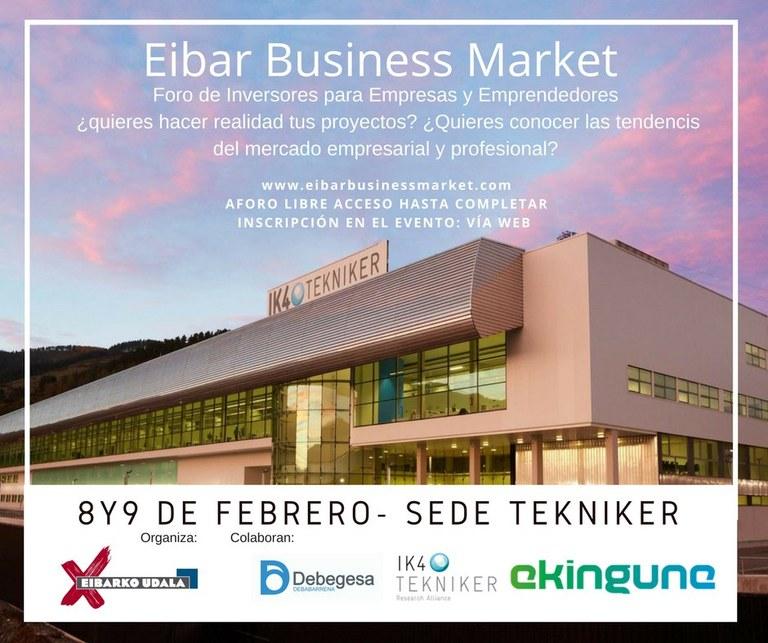 El Ayuntamiento de Eibar promueve la celebración de una jornada en la que se darán cita emprendedores/as, empresas, inversores privados e instituciones