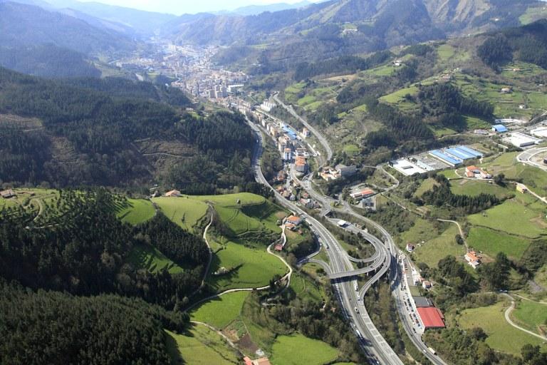 Imagen aérea de Eibar.
