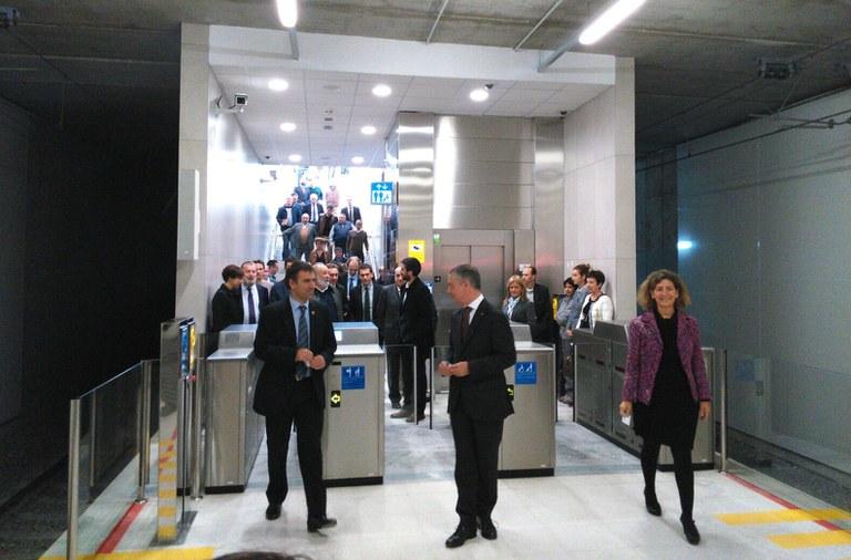 El Ayuntamiento de Eibar, satisfecho tras la inauguración de la nueva estación de Amaña y del trazado urbanístico resultante